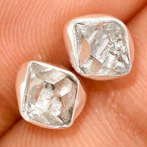 Herkimer Diamond - USA 925 Sterling Silver Earrings Stud Jewelry BE45052