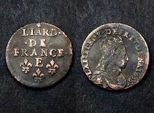 Liard de France 1655 E (Meung S/Loire). 2°Type. Louis XIV°. Cuivre. CoteTTB:120€