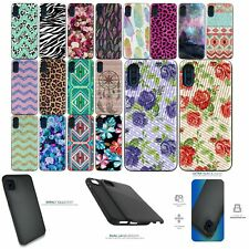 For [Samsung Galaxy A01 (2020)][EMBOSSED DUO SET2] Slim Hybrid Grip Case