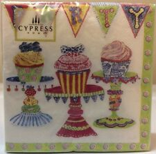 Cypress Home BIRTHDAY PARTY Cocktail Beverage Paper Napkins 20 Count - CUPCAKES