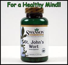 Swanson St John's Wort 375mg 120 Caps Hypercin Depression Stress Relief Bottle