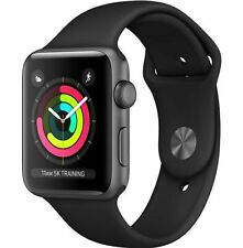 Apple Watch Series 3 42mm Aluminum Case, Space Gray with Back Sport Band (GPS +