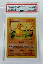 PSA 10 1st Edition Shadowless Charmander 46/102 Base Set Pokemon Card Gem Mint