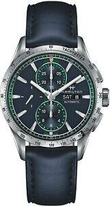 Hamilton Men's H43516641 Broadway Blue Dial 43mm Leather Watch