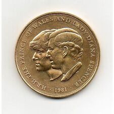 Prince of Wales & Lady Diana 24K Plaqué or Couronne
