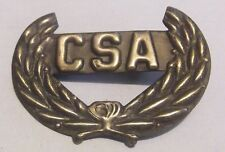 CSA BRASS PIN - CONFEDERATE STATES OF AMERICA - REBEL - CIVIL WAR HATPIN