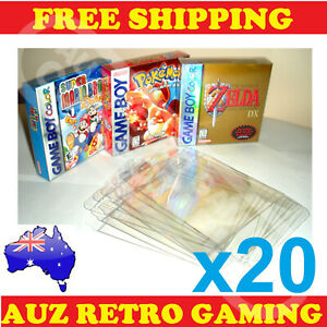 20x Thick GAME BOX PROTECTORS Cases Nintendo GameBoy Color Advance BOXED Games