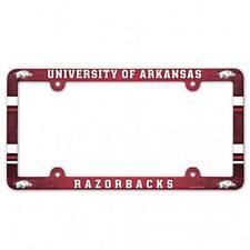 Arkansas Razorbacks Plastic License Frame [NEW] NCAA Tag Auto Car Plate Truck