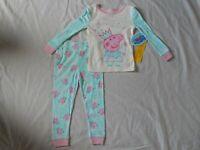 Peppa Pig Figure 2 Piece Sleep Set Pajamas Outfit NEW Magic Girls Toddler 2t 3t
