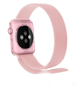 Milanese Loop Bracelet Stainless Steel Band for Apple Watch 1,2,3,4 38mm PINK