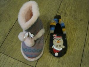 2 Dog Slippers For your dog to play 0r chew up Elf & Booty X sample slippers