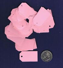 100 Small Blank Handmade Gift Tags Pink Rose Hang Easter Price Baby Girl