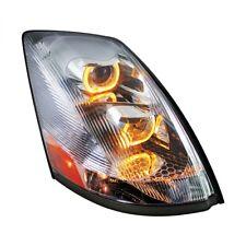 Volvo VN/VNL Projection Headlight with LED Light Bar, Chrome - Passenger Side
