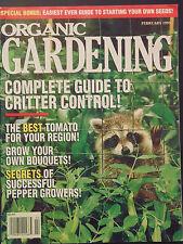 Organic Gardening Magazine February 1995 critter control best tomato pepper