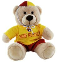 TIC TOC TEDDY BEAR DRESSED AS LIFE SAVER  BEAR  21CM  ICONIC AUSSIE OUTFIT
