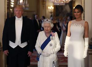 President Donald Trump Queen Elizabeth Melania 8x10 photo Formal Tuxedo Picture