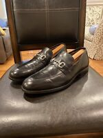 JOHNSTON & MURPHY Signature Series Mens Black Leather Shoes Loafers size 11.5 M