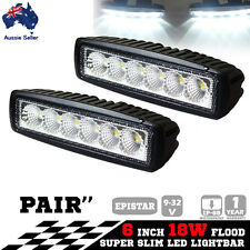 18W Led Light Bar Driving Work Lamp Flood Truck Offroad Ute 4WD 6inch 2x Boat