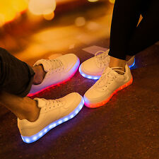 SAGUARO Flashing LED Light Up Shoes Trainers Luminous Sneakers Shoes Casual