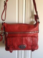 Fossil Maddox Bag In Red Leather