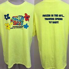 VTG 90s Austin Powers Movie T Shirt Man Of Mystery Baby 97 XL/XXL Promo Neon