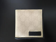 Auth GUCCI unisexd White Monogram Coated Canvas Bi-fold square Wallet