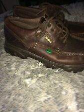 Retro Kickers Shoes Brown Leather Size 7 Mens