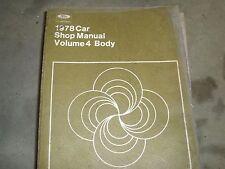 1978 FORD MUSTANG THUNDERBIRD FAIRMONT GRANADA PINTO BODY SERVICE SHOP MANUAL