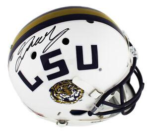 Greedy Williams Signed LSU Tigers Schutt Full Size White NCAA Helmet