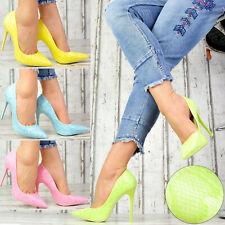 Neu Damenschuhe Party LACK SNAKE-OPTIK Pumps Damen High Heels Stilettos .J02