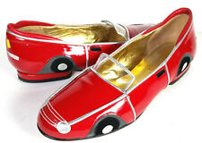 VTG 80'S ZALO RED CONVERTIBLE Car Shoes Made in Spain *EXCELLENT* SIZE 5.5 - 6