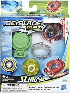 BEYBLADE Burst Slingshock Rip Fire Starter Pack Z Achilles A4 Battling Light-Up