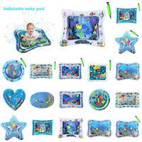 Inflatable Water Mat DIY Baby Toddlers Mattress Splash Playmat Tummy Time Xmas