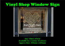 Vinyl shop window signs, sticker/decal, Business advertising store front