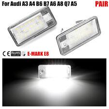 2PCS 18 LED Error Free License Plate Light Lamp For Audi A3 A4 A5 A6 A8 B6 B7 Q7