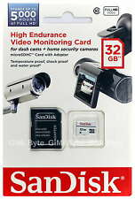 SanDisk 32GB High Endurance micro SD Class 10 Dash Cam Surveillance Memory Card