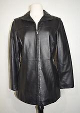 Worthington Leather coat Jacket Nice Stylish Zippered Women's Black Size PS