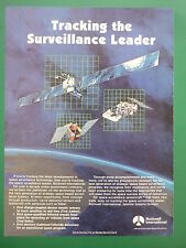 1980'S PUB ROCKWELL INTERNATIONAL SPACE SURVEILLANCE TECHNOLOGY SATELLITE AD