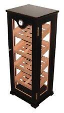 Cigar Humidor Retail Mahogany Vertical Standing Display Case Holds 100 Cigars
