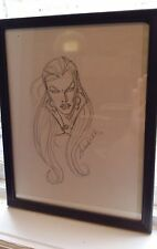 INGRA SKETCH-HAND DRAWN & SIGNED/ANDREA DIVITO W/COA-THE FIRST-CROSSGEN(~9x12) Comic Art