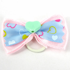 PALE PINK DOG HAIR GROOMING BOWS PACK OF 2 YORKSHIRE TERRIER P7
