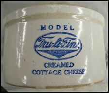 MODEL TRU A FINE CREAMED COTTAGE CHEESE STONEWARE CROCK