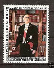 Dahomey # C-62 Used President De Gaulle Portrait Art