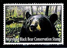 "2007 Maryland Conservation ""Black Bear"" Mognh - Vf/Xf"