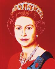 Queen Elizabeth II by Andy Warhol Art Print Pop Poster Red 13x19