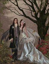 Nene Thomas Fairy Limited Edition Print Autumn Wedding Couple Signed Bride Groom