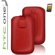 HTC One X Ultra Slim Etui Handy Tasche Hülle Case HTC One X Tasche ROT