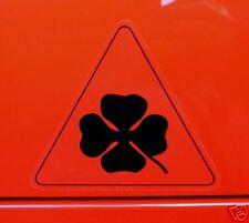 """ALFA ROMEO Noir & clear classic car stickers 4 """"paire Cloverleaf 156 GTA GTV"""