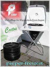 10er Pack Lidbag rund mit Nässepuffer für Trocken Toilette CACTUS Ernst-August