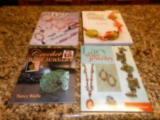 Lot of 4 Jewelry Making Creation How to Books Beaded Crochet Lacy